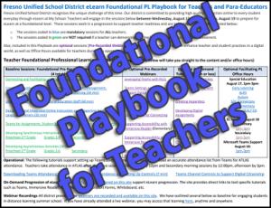 Foundational Playbook for Teachers